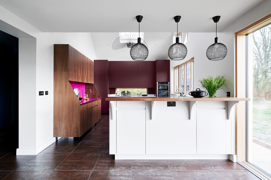 Pendant lighting in Cheverell kitchen