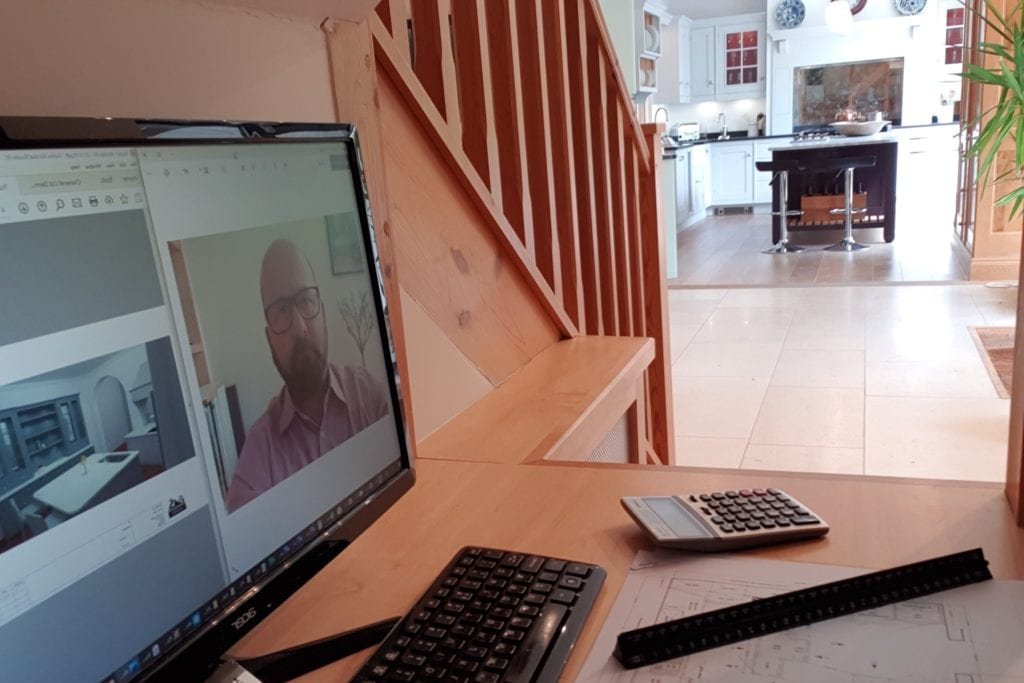 Virtual consultation in the Cheverell showroom